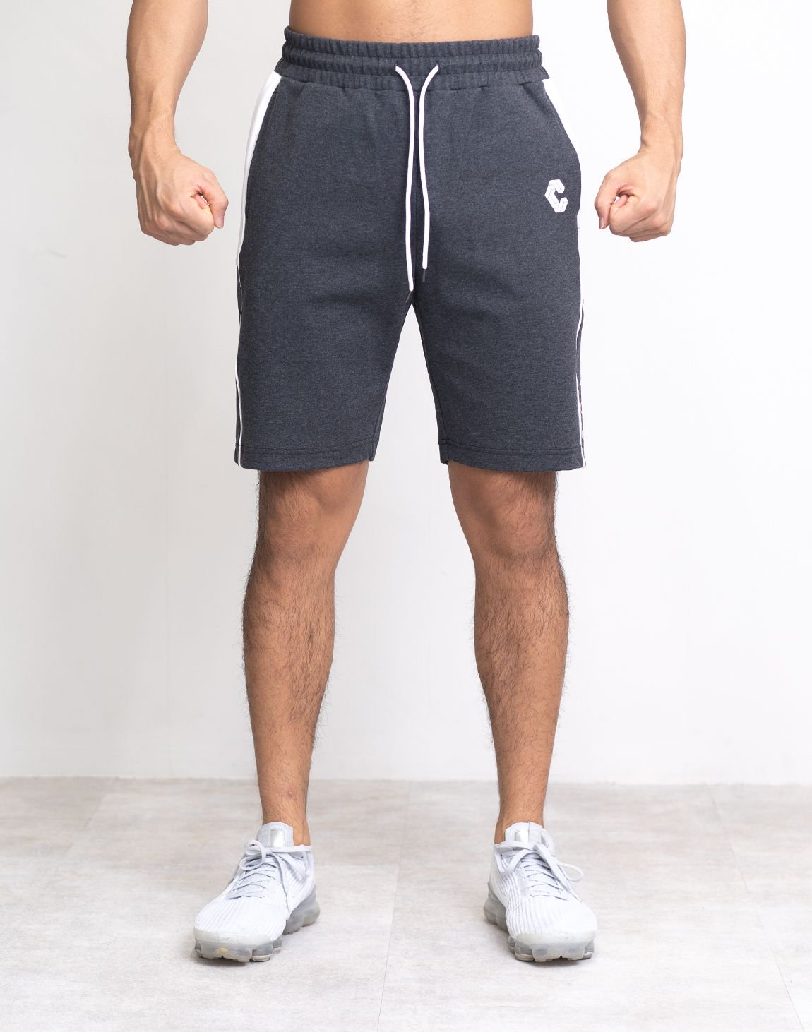 CRONOS SIDE LINE LOGO SHORTS【C.GRAY】