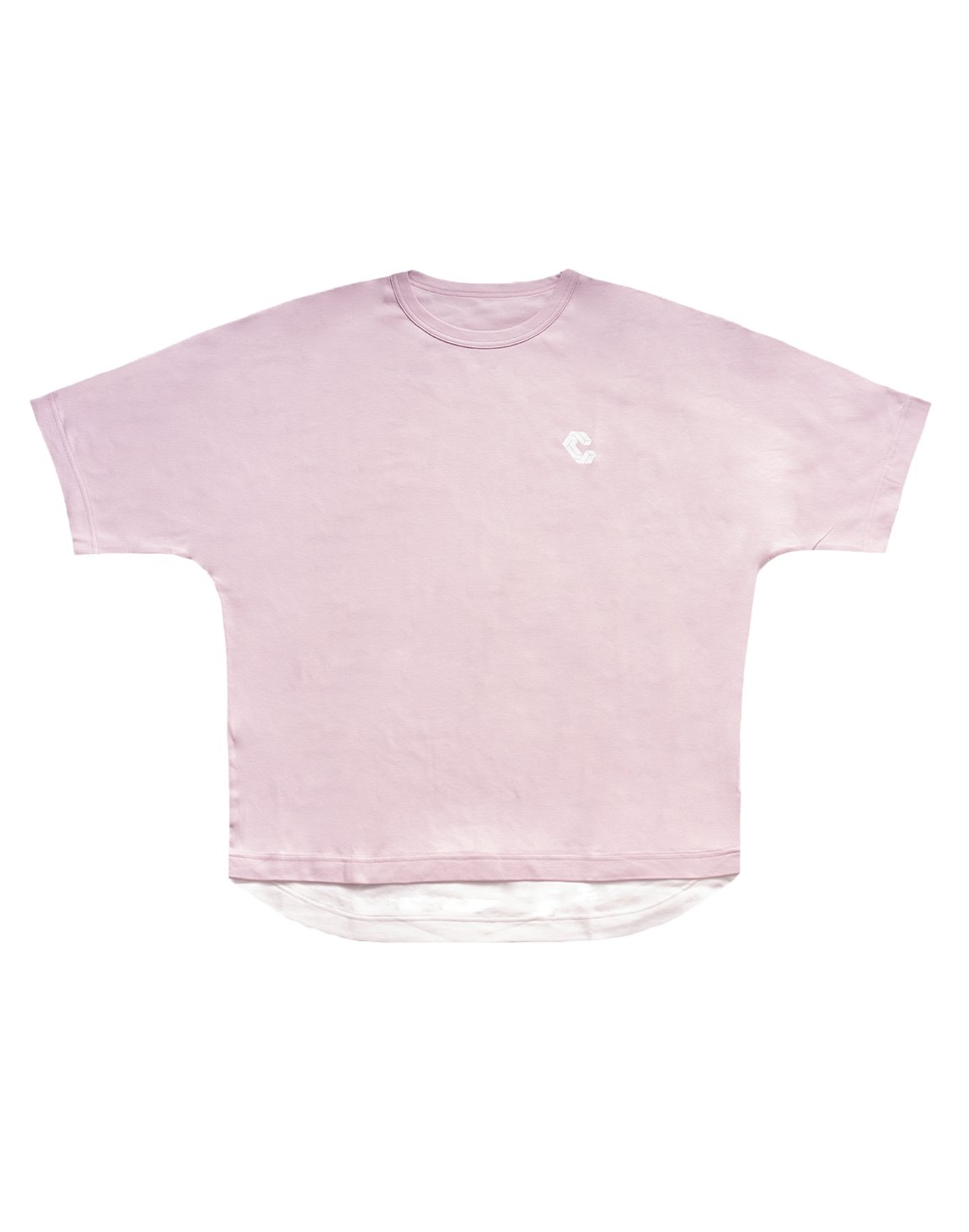 <img class='new_mark_img1' src='https://img.shop-pro.jp/img/new/icons1.gif' style='border:none;display:inline;margin:0px;padding:0px;width:auto;' />LAYERED LOOK  OVER SIZE T-SHIRTS【PINK】