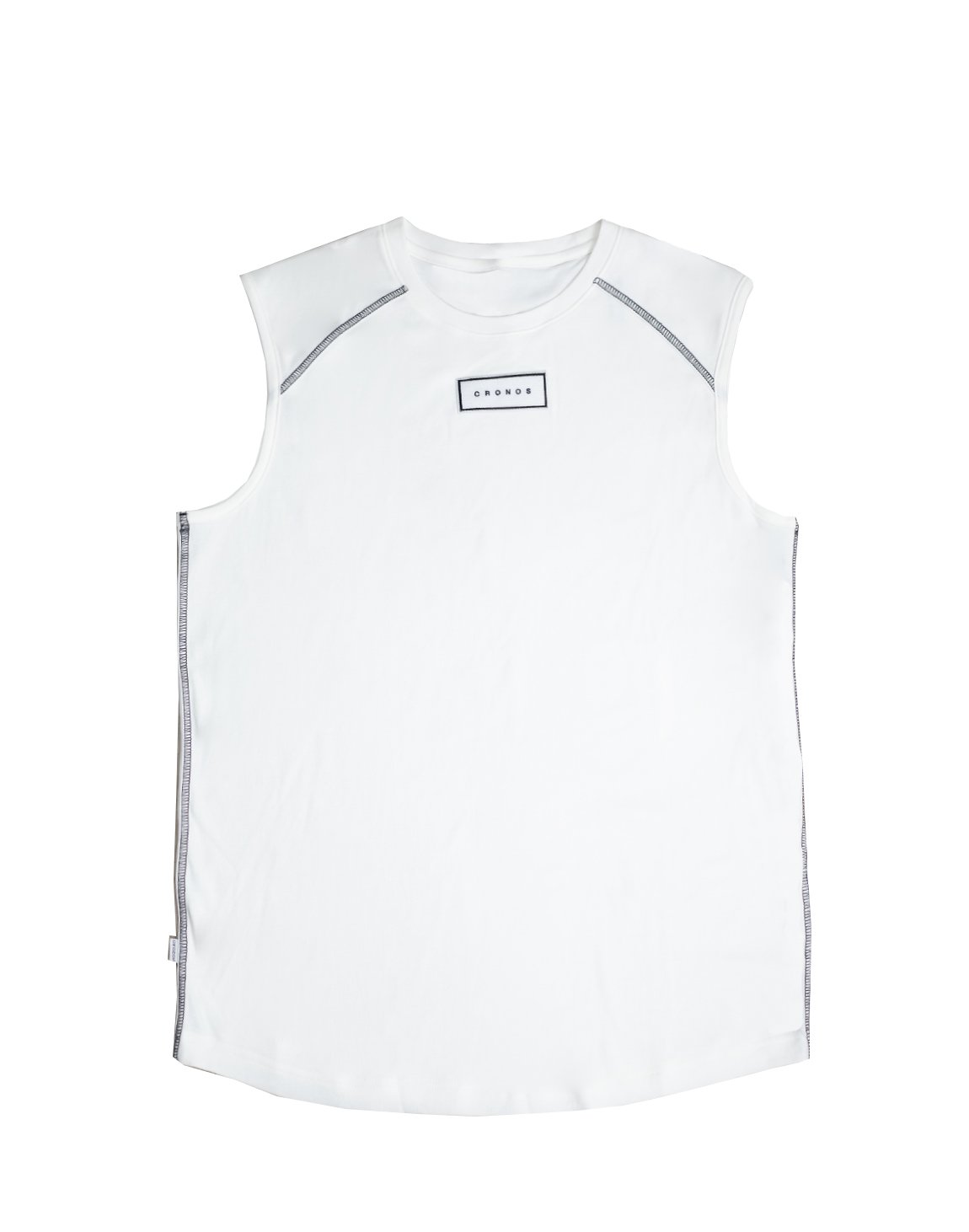 <img class='new_mark_img1' src='https://img.shop-pro.jp/img/new/icons1.gif' style='border:none;display:inline;margin:0px;padding:0px;width:auto;' />FRONT PATCH LOGO SLEEVELESS【WHITE】