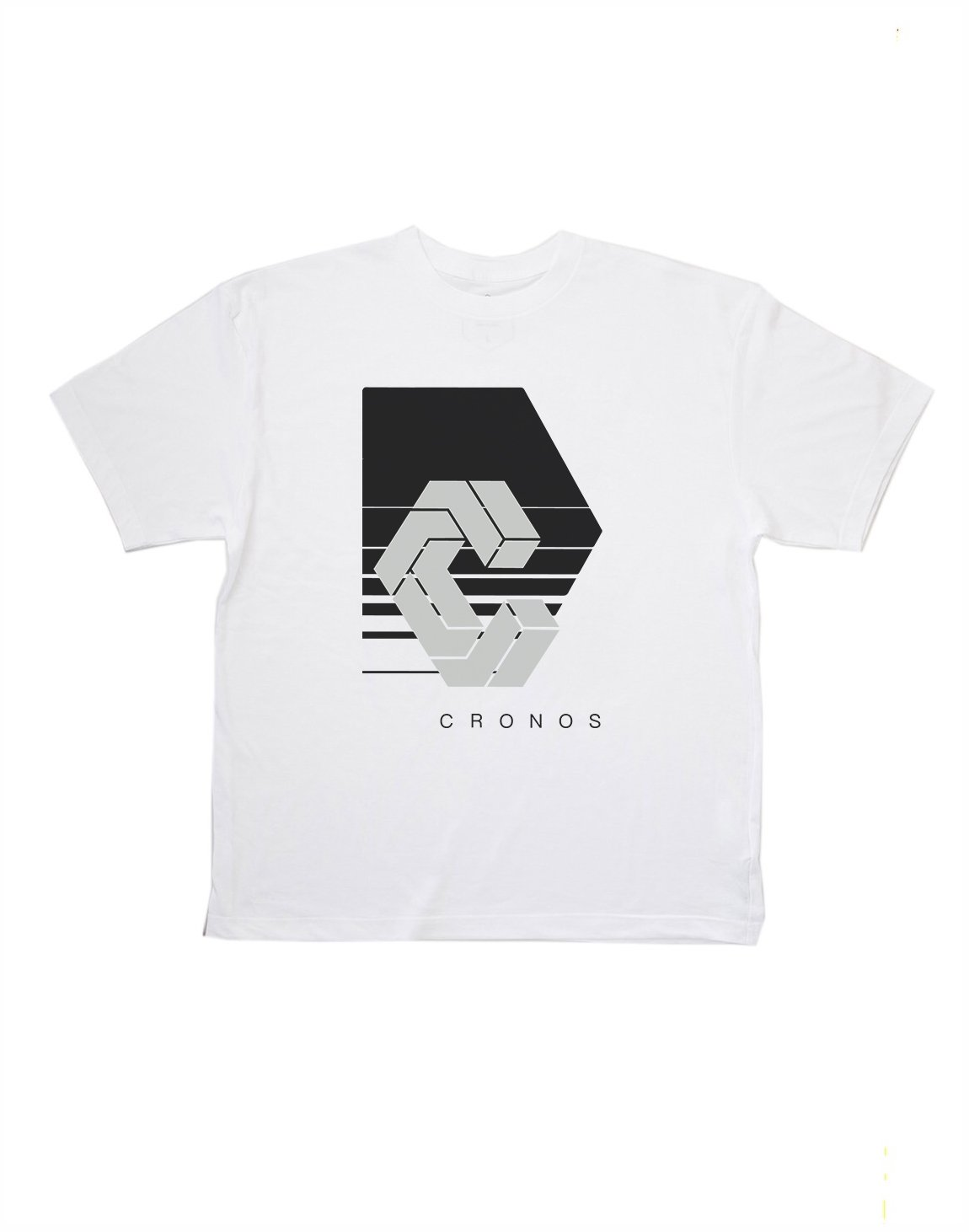 <img class='new_mark_img1' src='https://img.shop-pro.jp/img/new/icons1.gif' style='border:none;display:inline;margin:0px;padding:0px;width:auto;' />CRONOS REFLECTION LOGO OVER SIZE T-SHIRTS【WHITE】