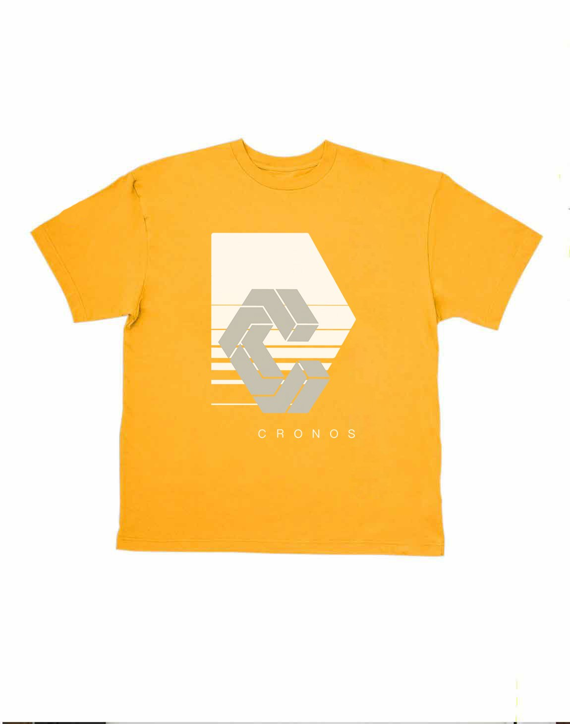 <img class='new_mark_img1' src='https://img.shop-pro.jp/img/new/icons1.gif' style='border:none;display:inline;margin:0px;padding:0px;width:auto;' />CRONOS REFLECTION LOGO OVER SIZE T-SHIRTS【YELLOW】