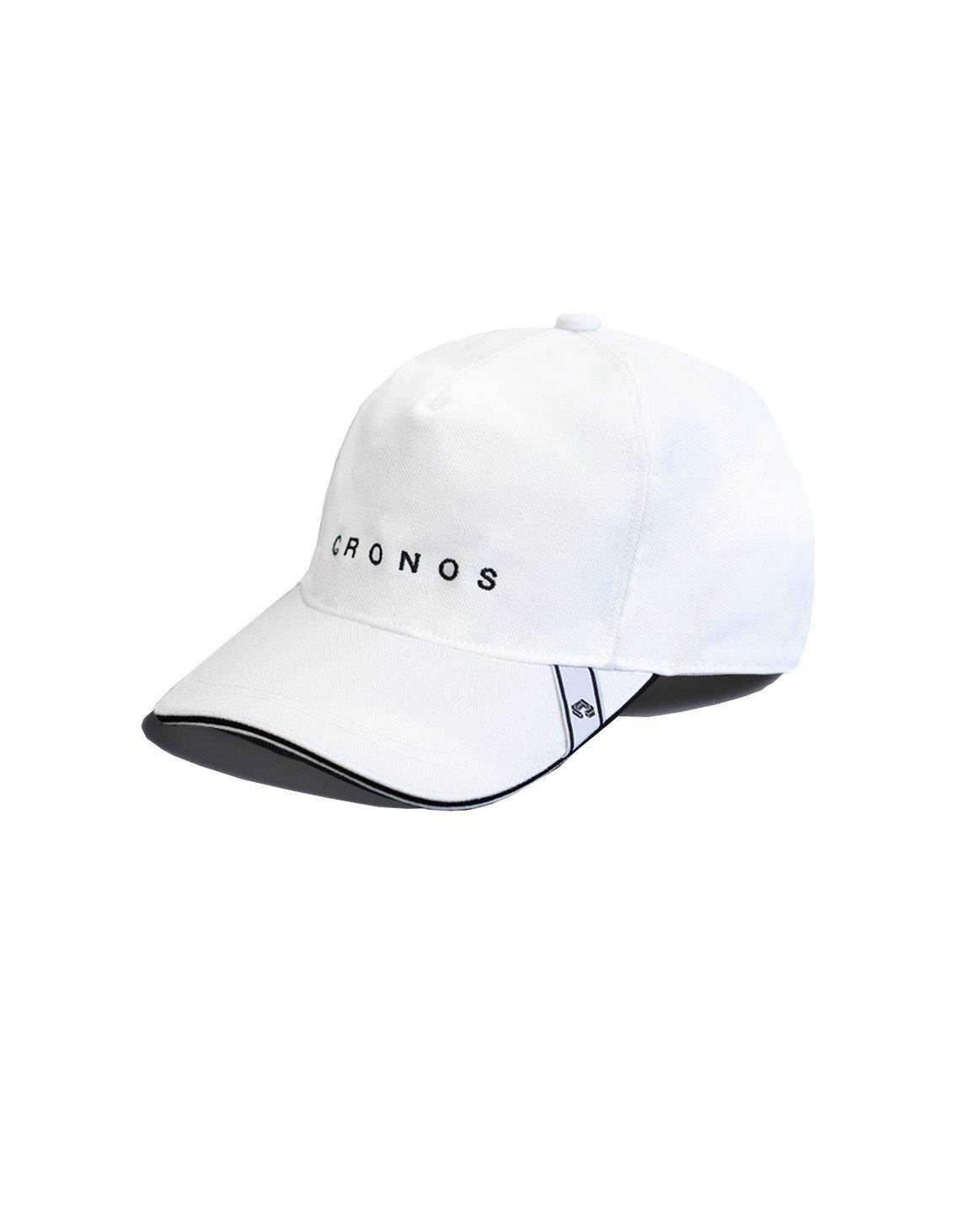 CRONOS FONT LOGO CAP【WHITE】