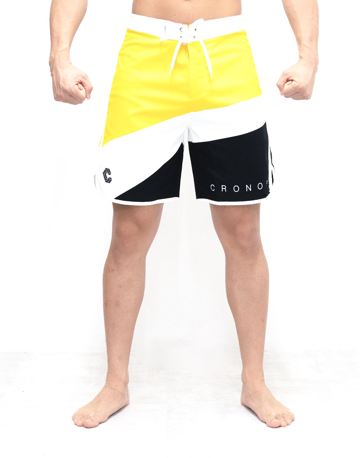 <img class='new_mark_img1' src='https://img.shop-pro.jp/img/new/icons1.gif' style='border:none;display:inline;margin:0px;padding:0px;width:auto;' />CRONOS THREE COLORS BOARD SHORTS【YELLOW】