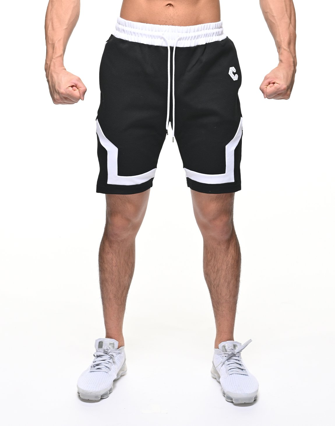<img class='new_mark_img1' src='https://img.shop-pro.jp/img/new/icons1.gif' style='border:none;display:inline;margin:0px;padding:0px;width:auto;' />CRONOS BACK LOGO SHORTS【BLACK】