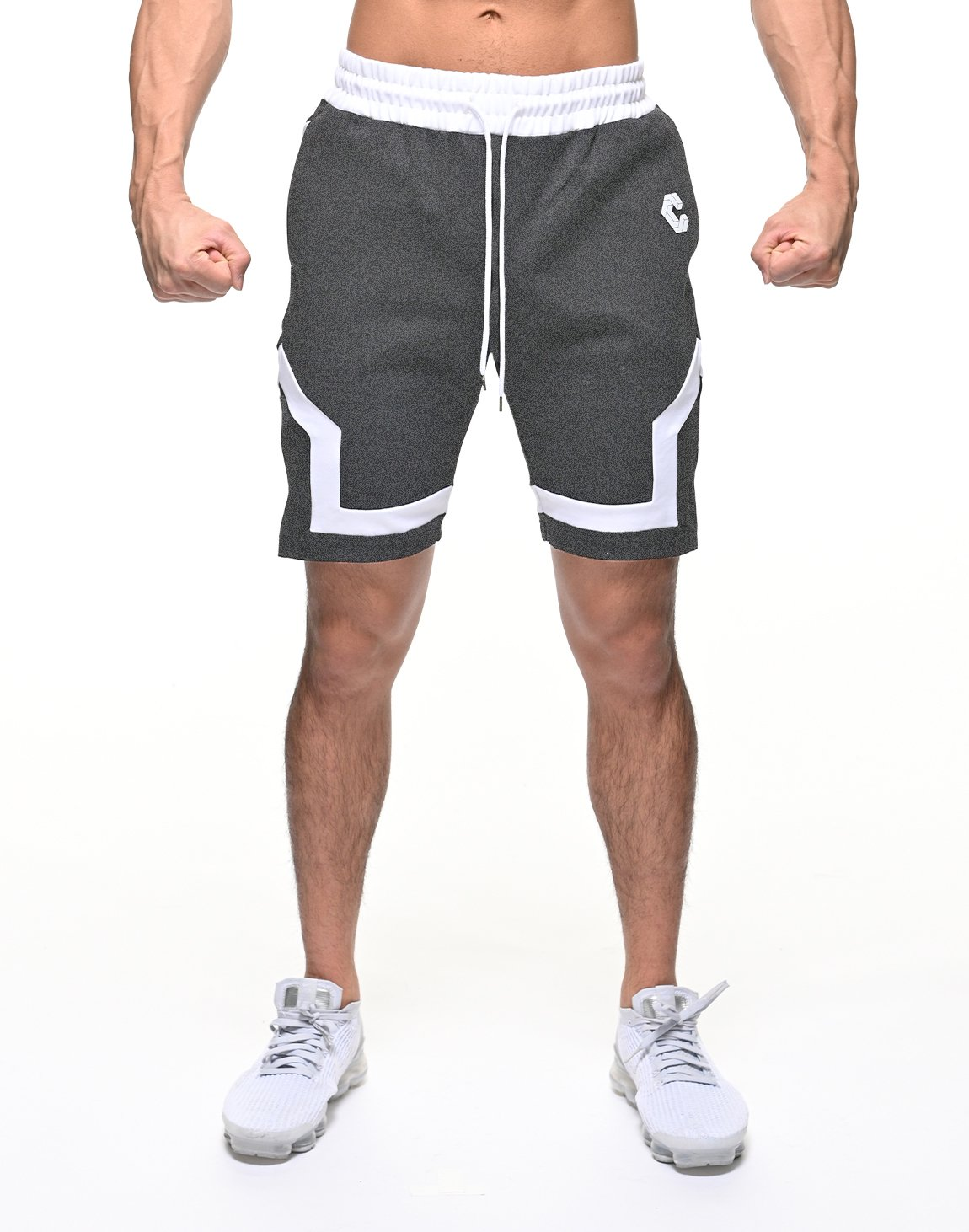 <img class='new_mark_img1' src='https://img.shop-pro.jp/img/new/icons1.gif' style='border:none;display:inline;margin:0px;padding:0px;width:auto;' />CRONOS BACK LOGO SHORTS【C.GRAY】