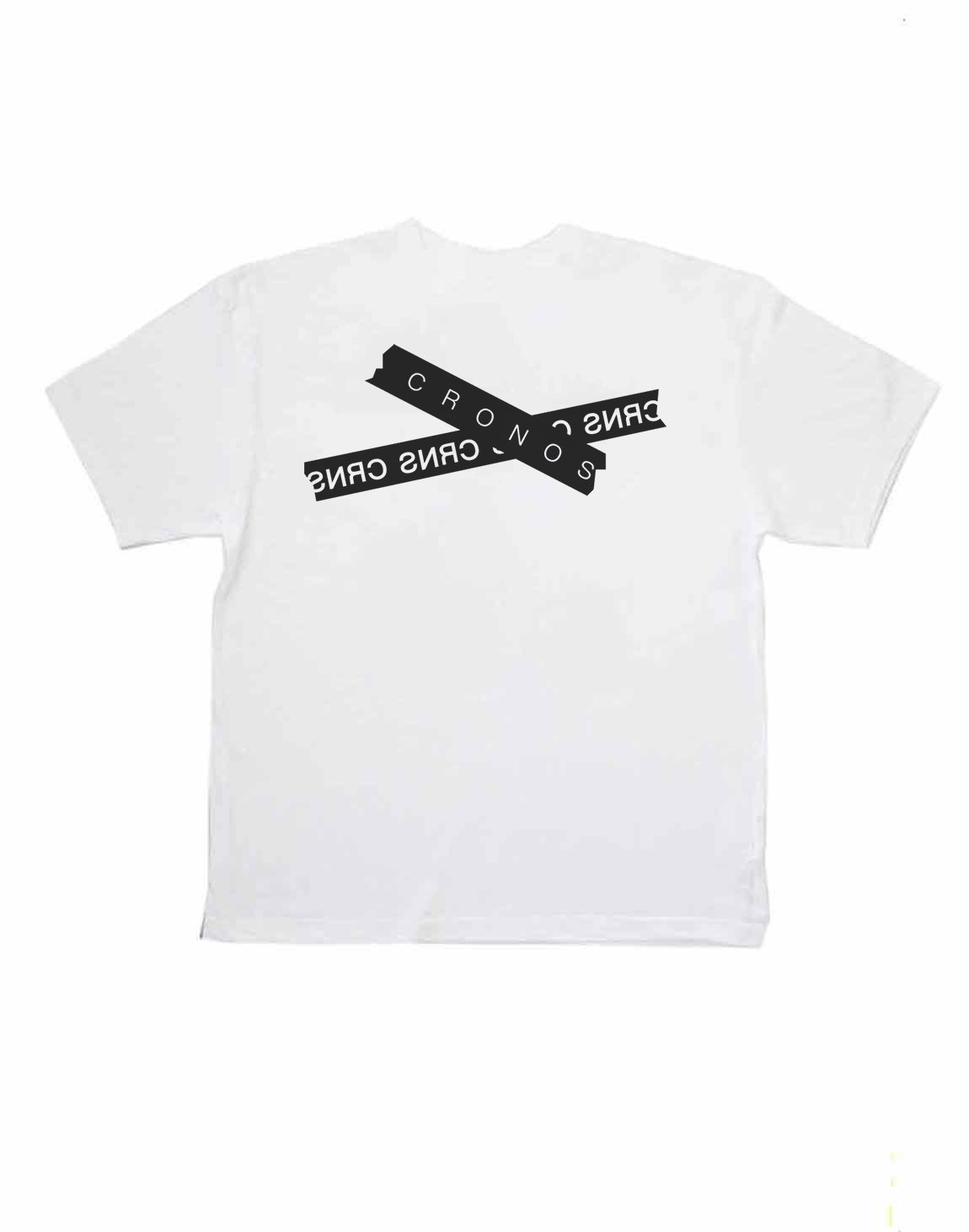 <img class='new_mark_img1' src='https://img.shop-pro.jp/img/new/icons1.gif' style='border:none;display:inline;margin:0px;padding:0px;width:auto;' />CRONOS TAPE LOGO OVER SIZE T-SHIRTS【WHITE】