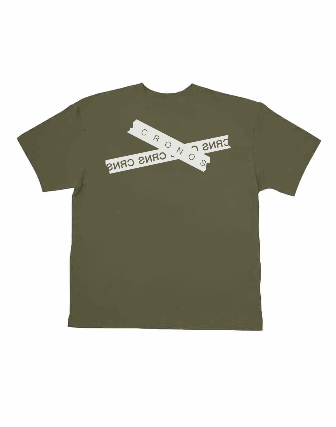 <img class='new_mark_img1' src='https://img.shop-pro.jp/img/new/icons1.gif' style='border:none;display:inline;margin:0px;padding:0px;width:auto;' />CRONOS TAPE LOGO OVER SIZE T-SHIRTS【KHAKI】