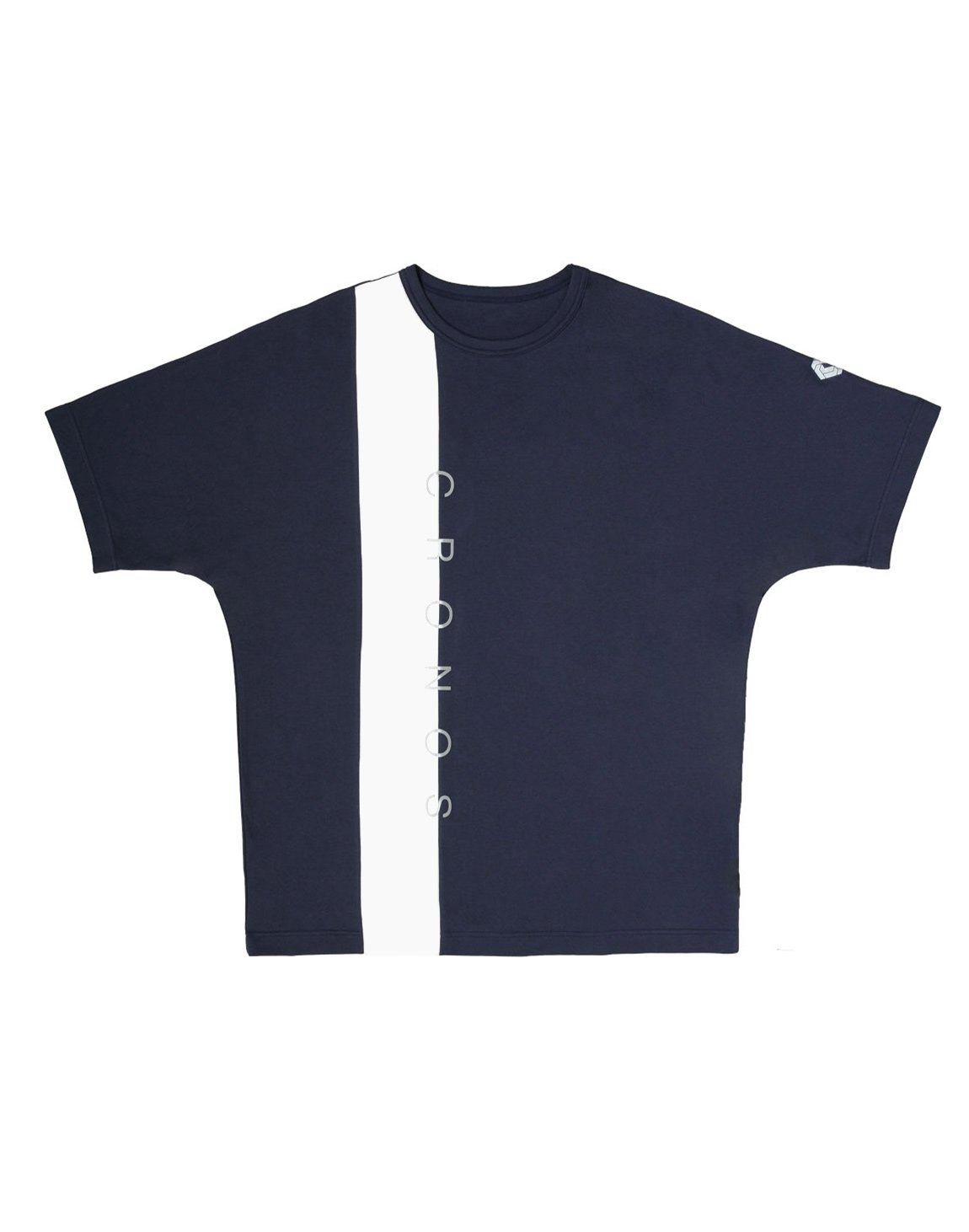 <img class='new_mark_img1' src='https://img.shop-pro.jp/img/new/icons1.gif' style='border:none;display:inline;margin:0px;padding:0px;width:auto;' />CRONOS VERTICAL LINE OVER SIZE T-SHIRTS【NAVY】