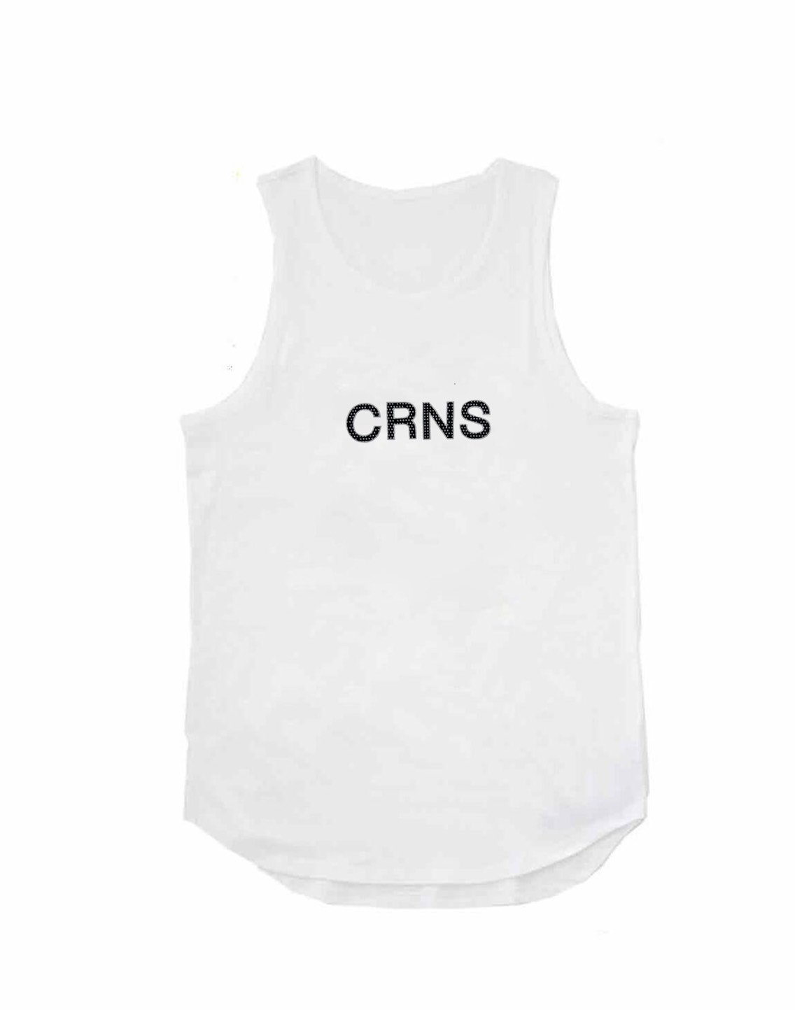 <img class='new_mark_img1' src='https://img.shop-pro.jp/img/new/icons1.gif' style='border:none;display:inline;margin:0px;padding:0px;width:auto;' />CRNS DOT  LOGO TANK TOP【WHITE】