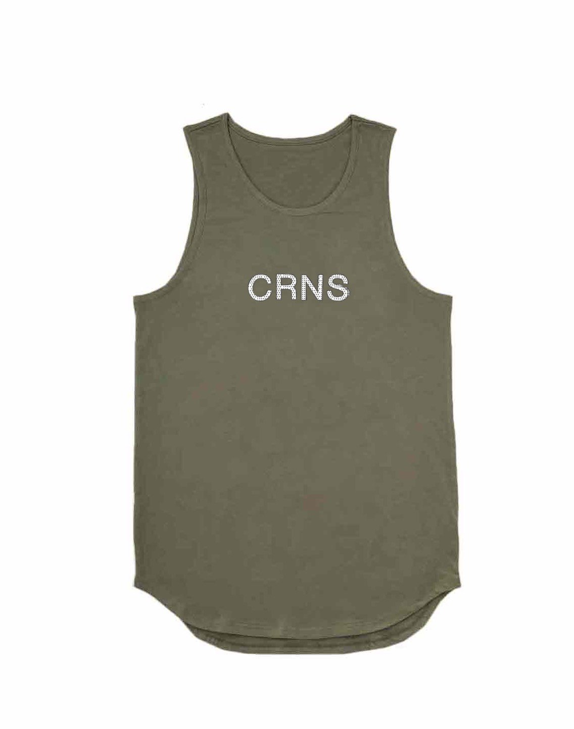 <img class='new_mark_img1' src='https://img.shop-pro.jp/img/new/icons1.gif' style='border:none;display:inline;margin:0px;padding:0px;width:auto;' />CRNS DOT LOGO TANKTOP【KHAKI】