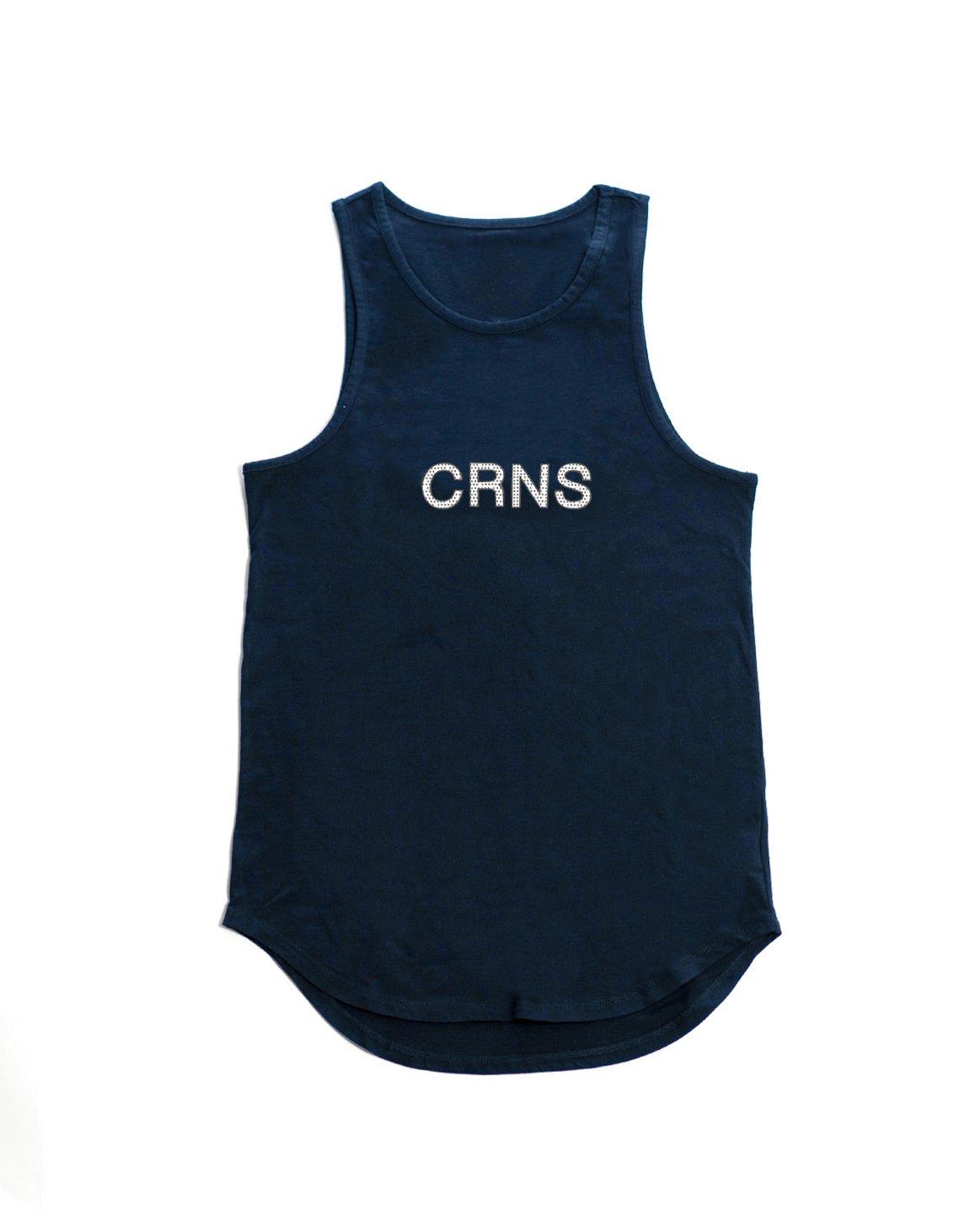 <img class='new_mark_img1' src='https://img.shop-pro.jp/img/new/icons1.gif' style='border:none;display:inline;margin:0px;padding:0px;width:auto;' />CRNS DOT LOGO TANKTOP【NAVY】