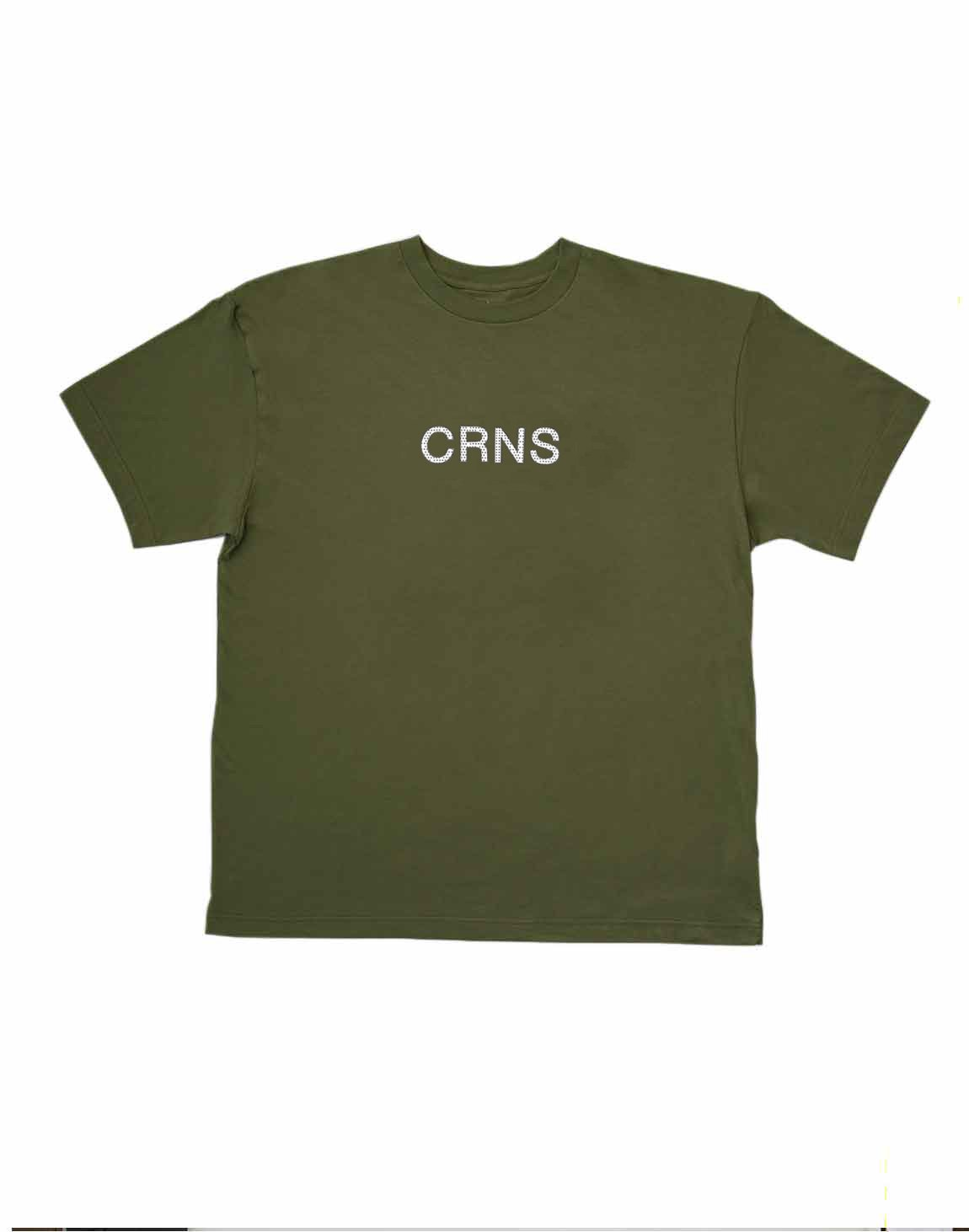 <img class='new_mark_img1' src='https://img.shop-pro.jp/img/new/icons1.gif' style='border:none;display:inline;margin:0px;padding:0px;width:auto;' />CRNS DOT LOGO OVERSIZE T-SHIRTS【KHAKI】