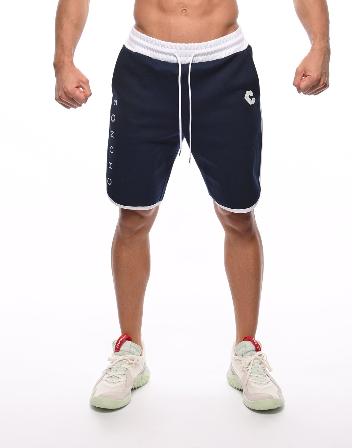 <img class='new_mark_img1' src='https://img.shop-pro.jp/img/new/icons55.gif' style='border:none;display:inline;margin:0px;padding:0px;width:auto;' />CRONOS 2STRIPE SHORTS【NAVY】