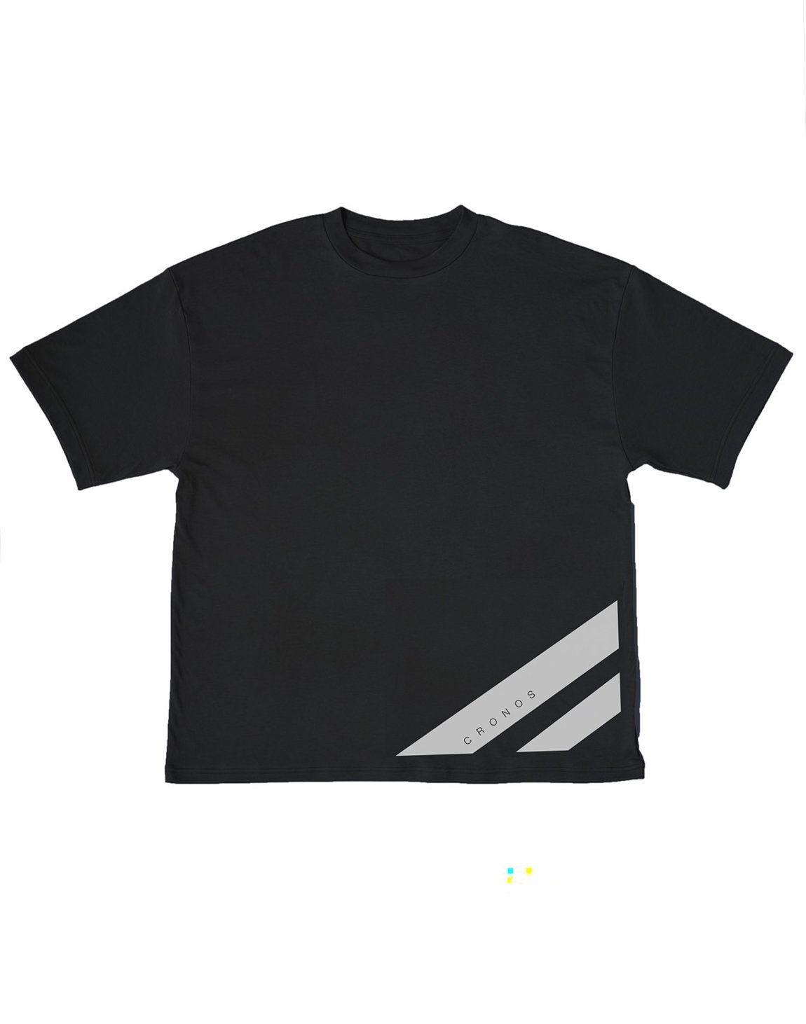 CRONOS STRIPE LOGO NEW OVER SIZE T-SHIRTS【BLACK】