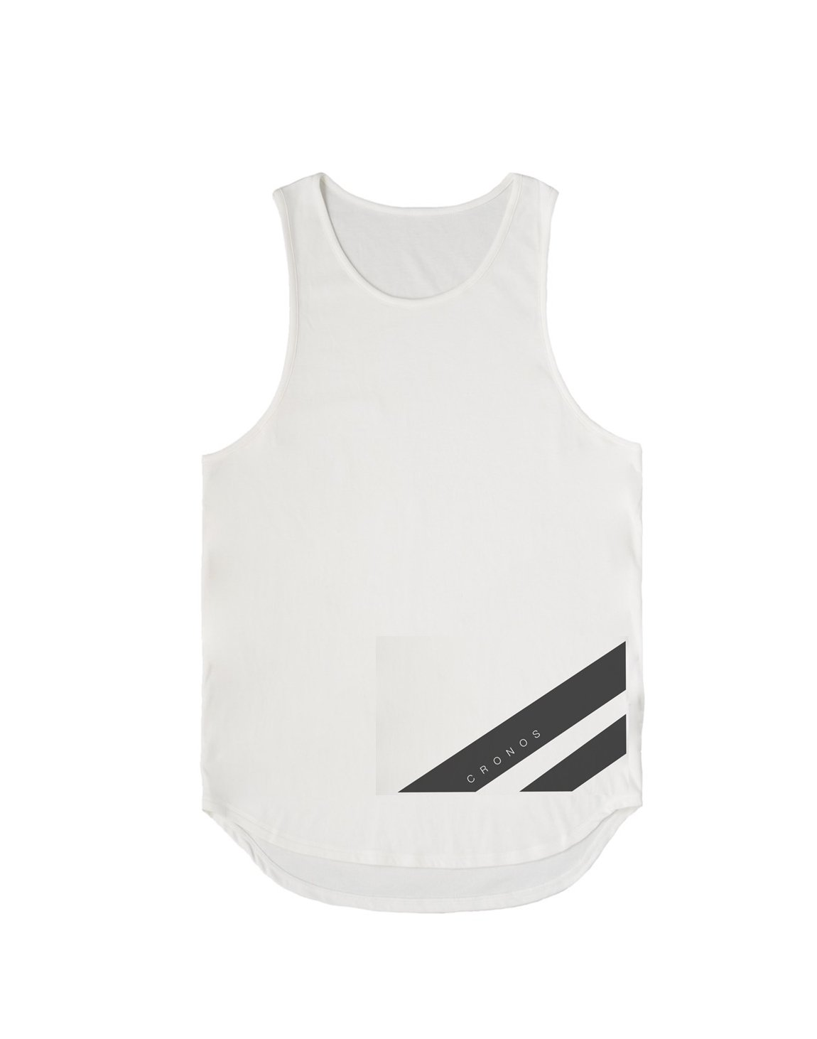 <img class='new_mark_img1' src='https://img.shop-pro.jp/img/new/icons55.gif' style='border:none;display:inline;margin:0px;padding:0px;width:auto;' />CRONOS NEW STRIPE LOGO TANKTOP【WHITE】