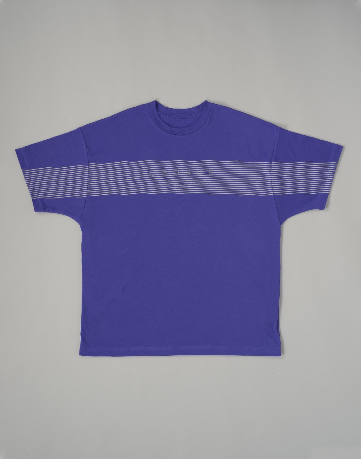 CRONOS PARALLEL LINE LOGO OVERSIZE T-SHIRTS【PURPLE】