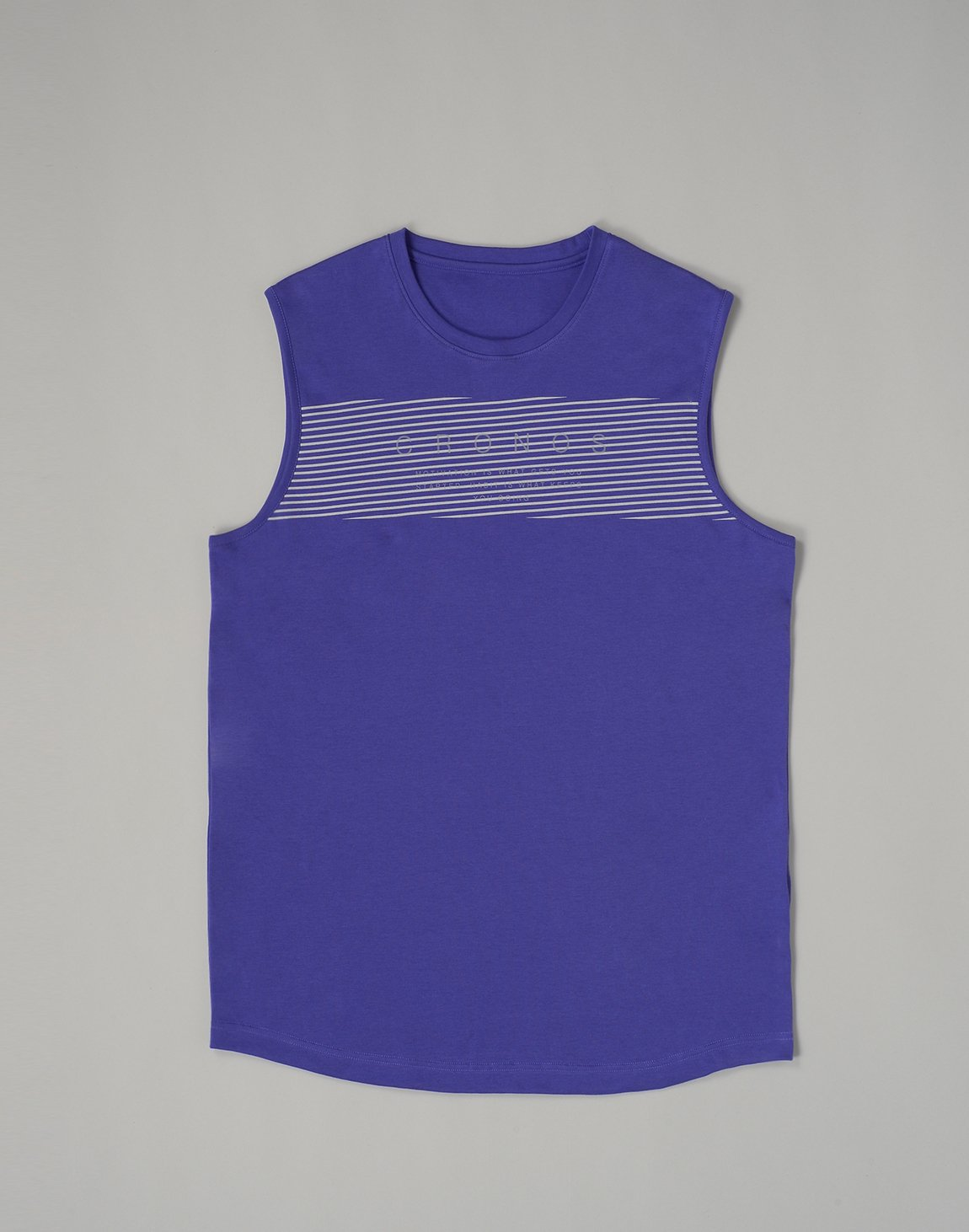 <img class='new_mark_img1' src='https://img.shop-pro.jp/img/new/icons1.gif' style='border:none;display:inline;margin:0px;padding:0px;width:auto;' />CRONOS PARALLEL LINE LOGO  MUSLE TOP【PURPLE】