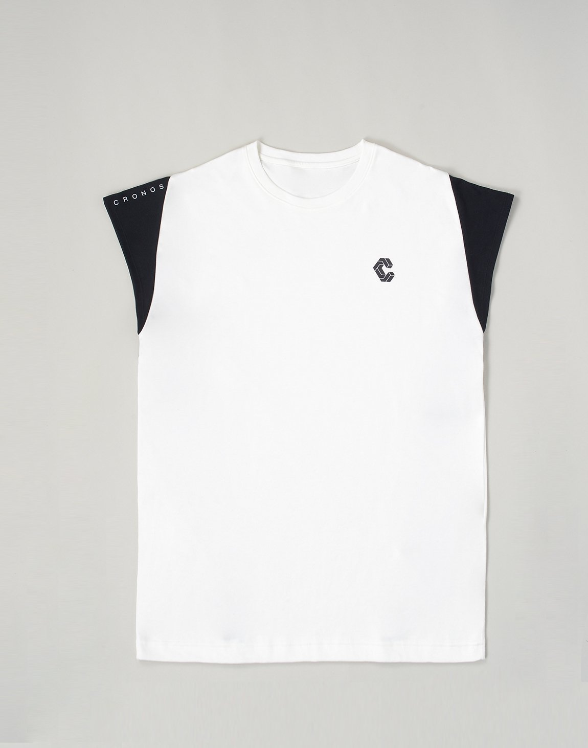 <img class='new_mark_img1' src='https://img.shop-pro.jp/img/new/icons55.gif' style='border:none;display:inline;margin:0px;padding:0px;width:auto;' />CRONOS LATS LINE CAP SLEEVE TOP【WHITE】