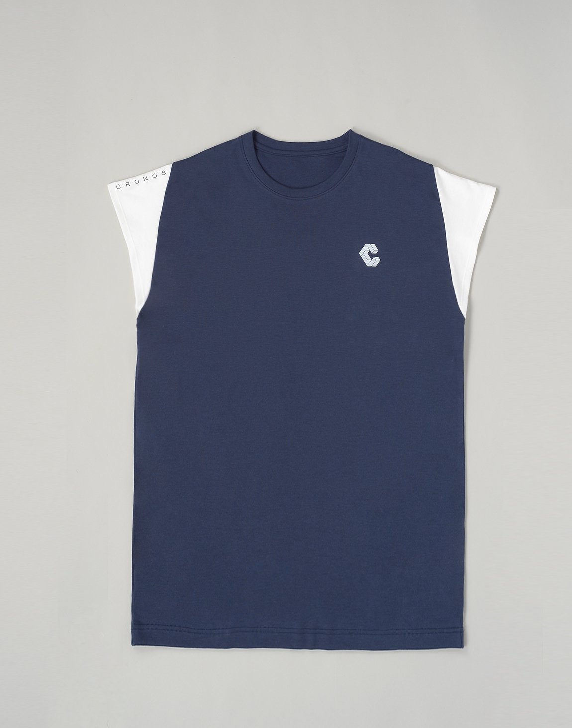 <img class='new_mark_img1' src='https://img.shop-pro.jp/img/new/icons1.gif' style='border:none;display:inline;margin:0px;padding:0px;width:auto;' />CRONOS LATS LINE CAP SLEEVE TOP【NAVY】
