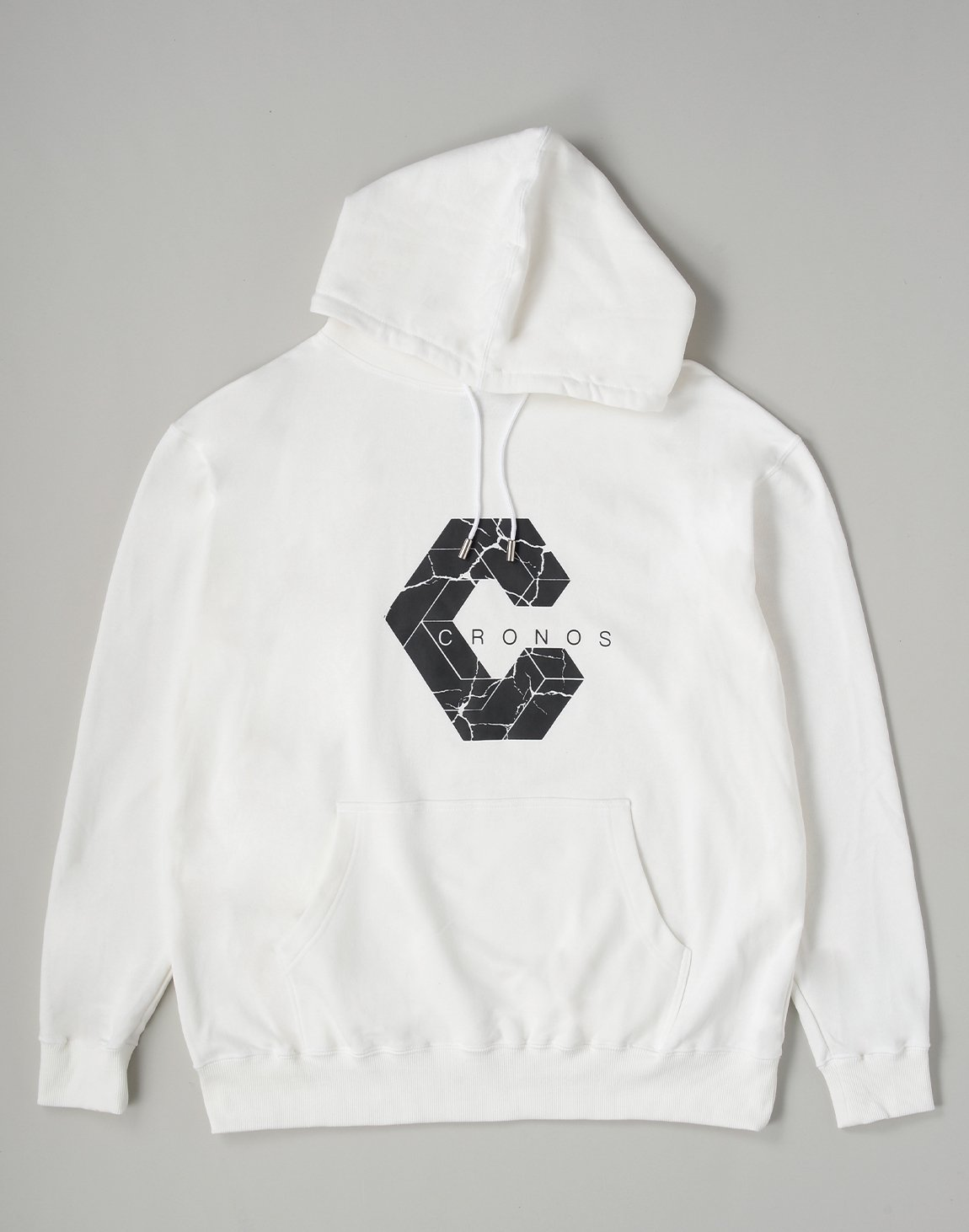 <img class='new_mark_img1' src='https://img.shop-pro.jp/img/new/icons1.gif' style='border:none;display:inline;margin:0px;padding:0px;width:auto;' />CRONOS SIGNATURE LOGO HOODIE【WHITE】