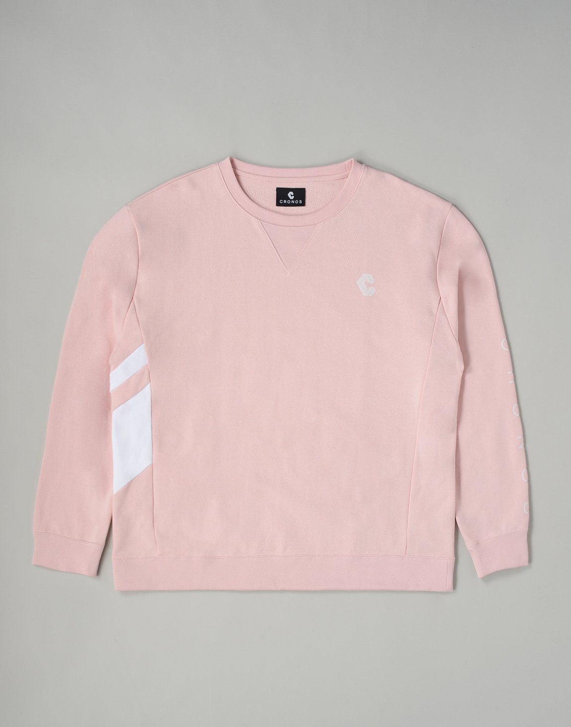 <img class='new_mark_img1' src='https://img.shop-pro.jp/img/new/icons1.gif' style='border:none;display:inline;margin:0px;padding:0px;width:auto;' />CRONOS SLANTED LINE SWEATSHIRT【PINK】