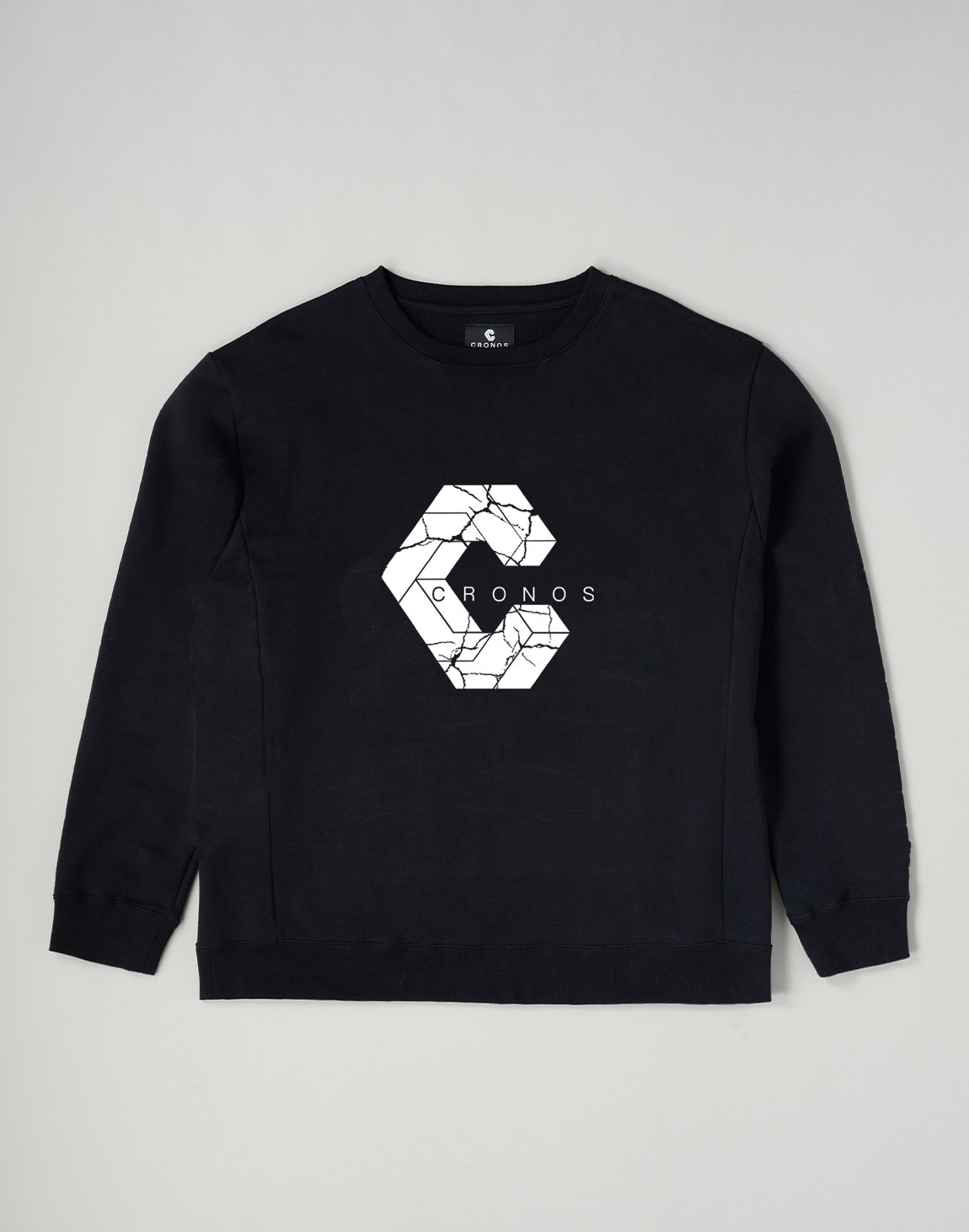 <img class='new_mark_img1' src='https://img.shop-pro.jp/img/new/icons1.gif' style='border:none;display:inline;margin:0px;padding:0px;width:auto;' />CRONOS SIGNATURE LOGO SWEATSHIRT【BLACK】
