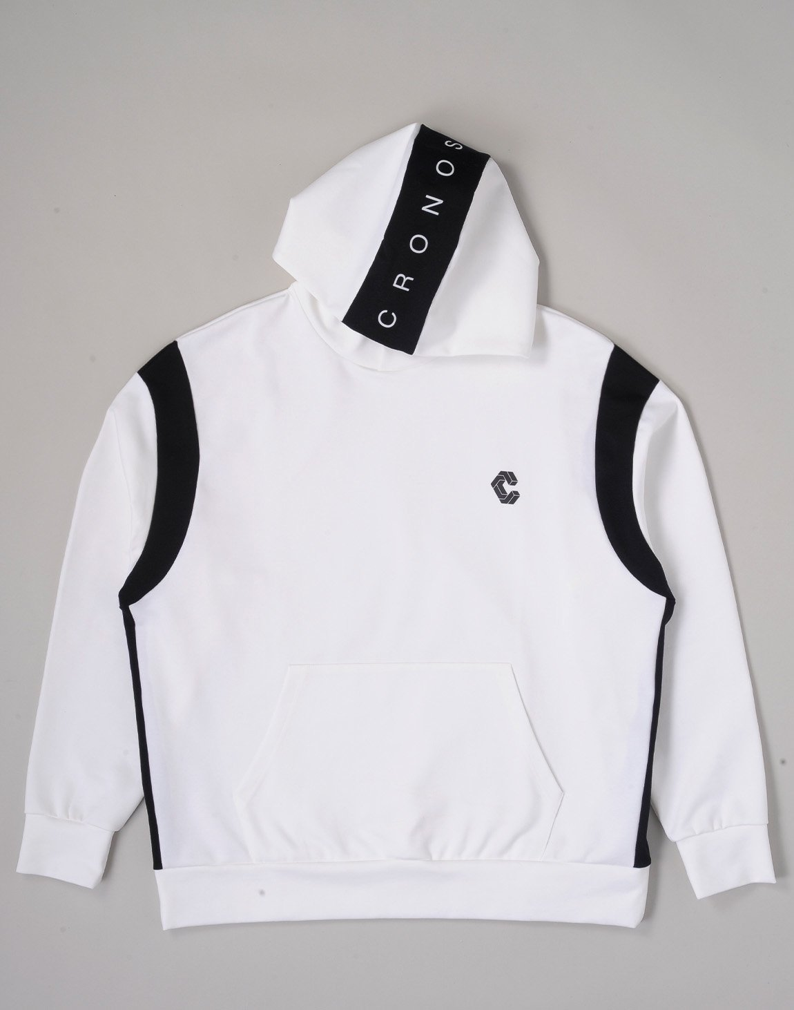 <img class='new_mark_img1' src='https://img.shop-pro.jp/img/new/icons1.gif' style='border:none;display:inline;margin:0px;padding:0px;width:auto;' />CRONOS HEAD LOGO HOODIE【WHITE×BLACK】