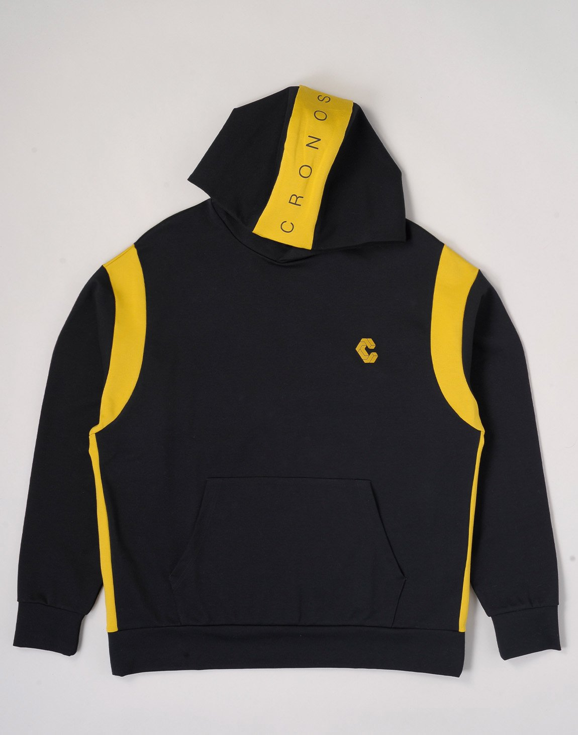 <img class='new_mark_img1' src='https://img.shop-pro.jp/img/new/icons1.gif' style='border:none;display:inline;margin:0px;padding:0px;width:auto;' />CRONOS HEAD LOGO HOODIE【BLACK×YELLOW】