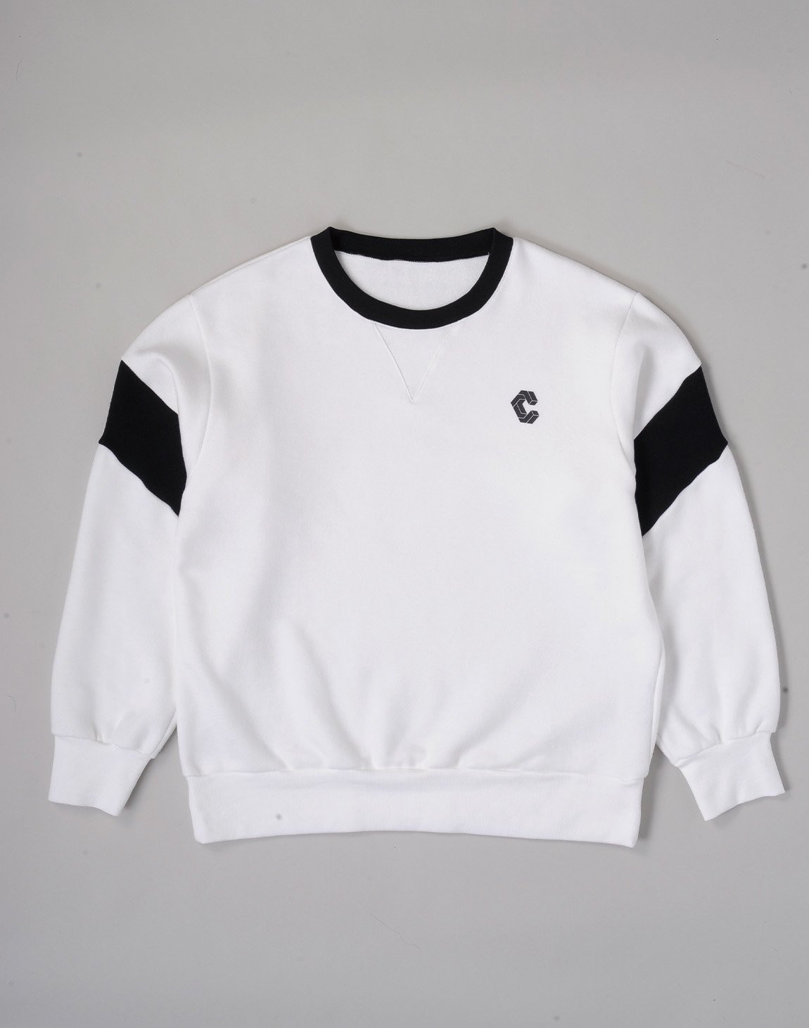 <img class='new_mark_img1' src='https://img.shop-pro.jp/img/new/icons1.gif' style='border:none;display:inline;margin:0px;padding:0px;width:auto;' />CRONOS LOGO SOFT FLEECE SWEATSHIRT【WHITE】