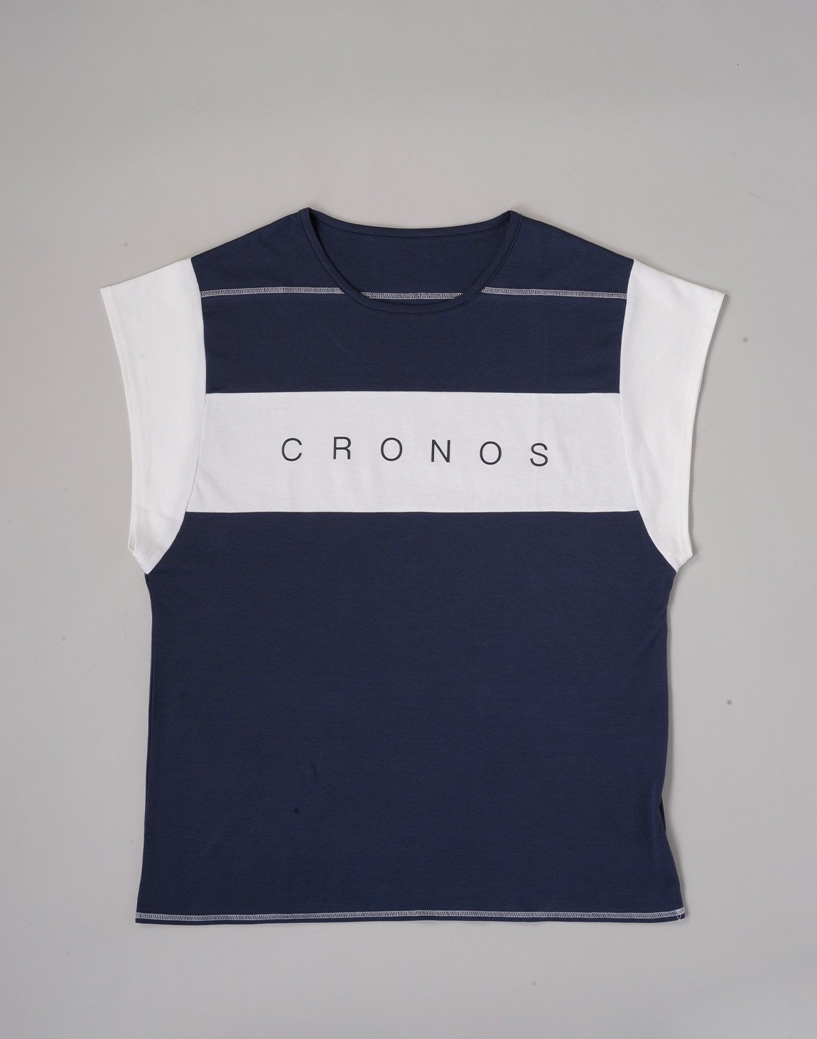 <img class='new_mark_img1' src='https://img.shop-pro.jp/img/new/icons1.gif' style='border:none;display:inline;margin:0px;padding:0px;width:auto;' />CRONOS BANNER LOGO TOPS【NAVY】