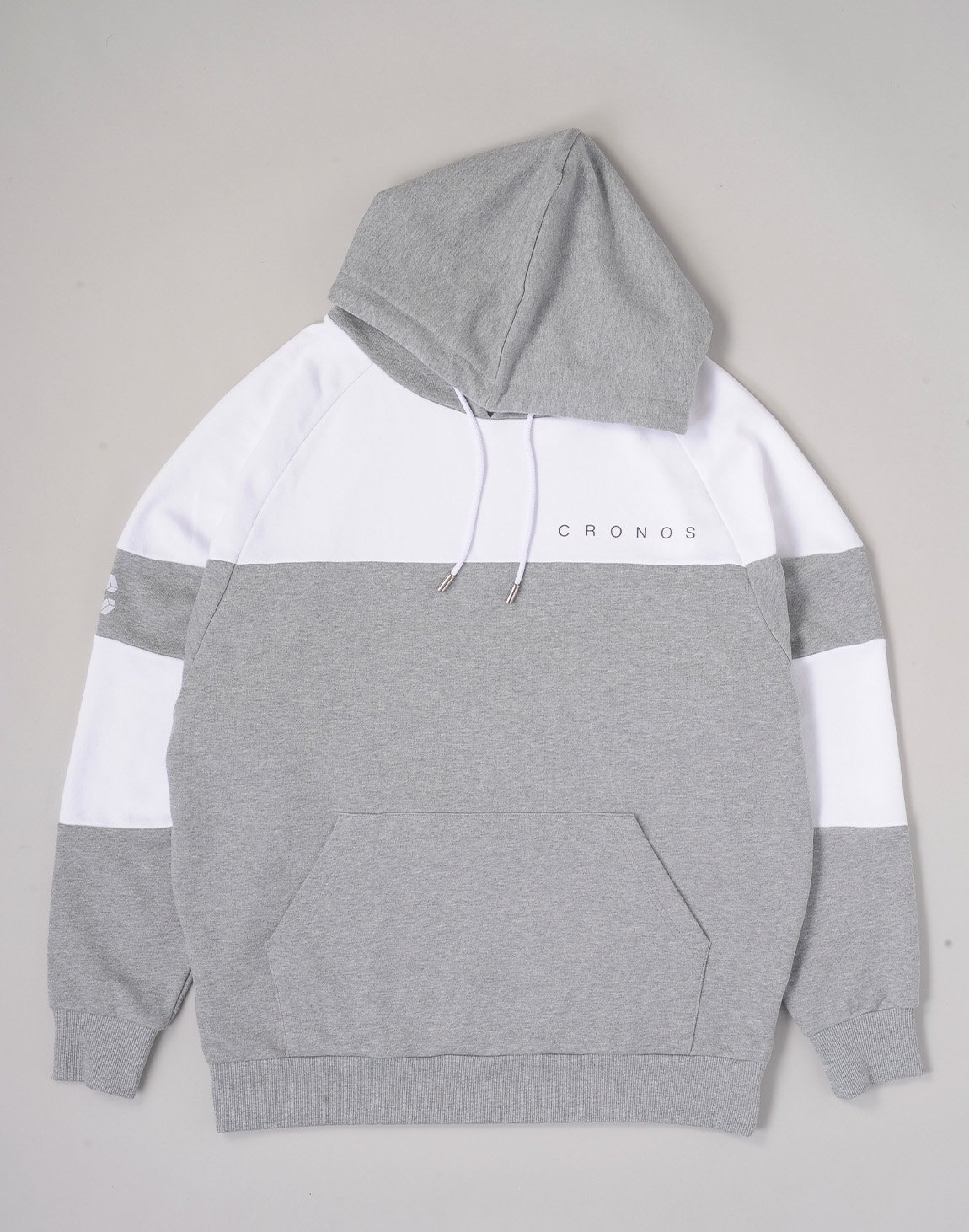 <img class='new_mark_img1' src='https://img.shop-pro.jp/img/new/icons1.gif' style='border:none;display:inline;margin:0px;padding:0px;width:auto;' />CRONOS CUT BACK BASIC HOODIE【GRAYxWHITE】