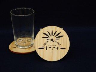 「こけし」 コースター こけし館 オリジナル商品