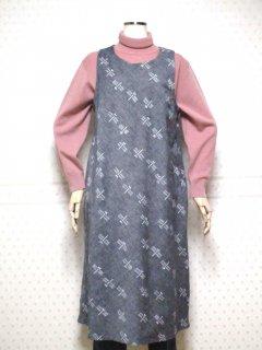 久留米絣 ジャンバースカート