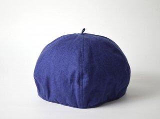 linen beret / NAVY