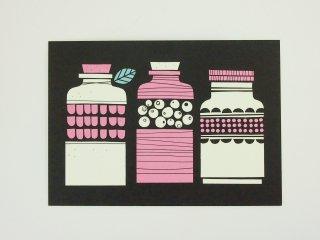 FINLAND ポストカード/瓶詰め(黒)