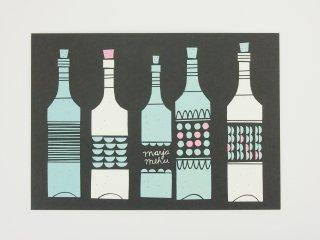 FINLAND ポストカード/ワイン(黒)