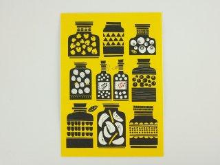 FINLAND ポストカード/瓶(黄色)