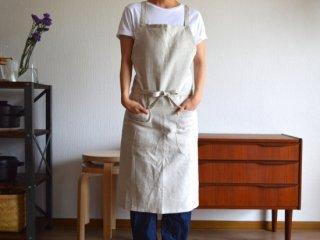 ramie apron / NATURAL
