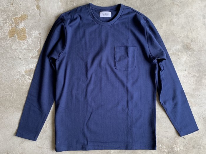 pocket long sleeve t-shirt /  NAVY