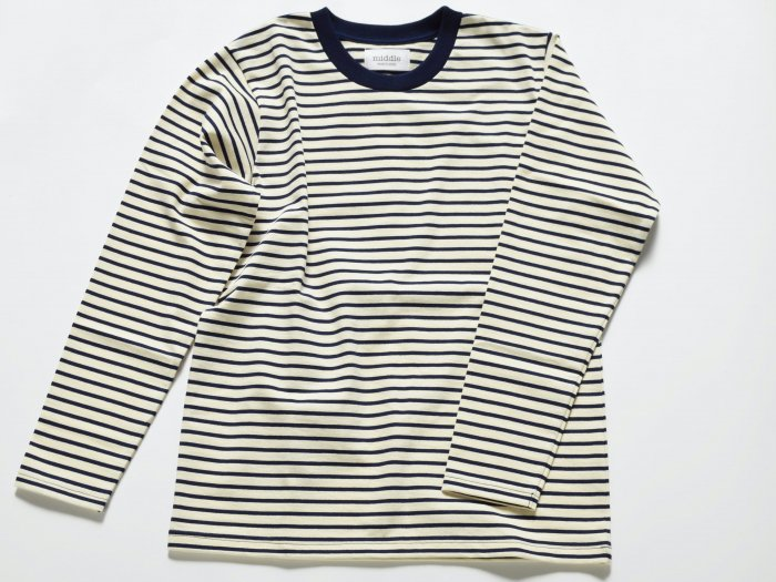 border long sleeve t /  NATURAL