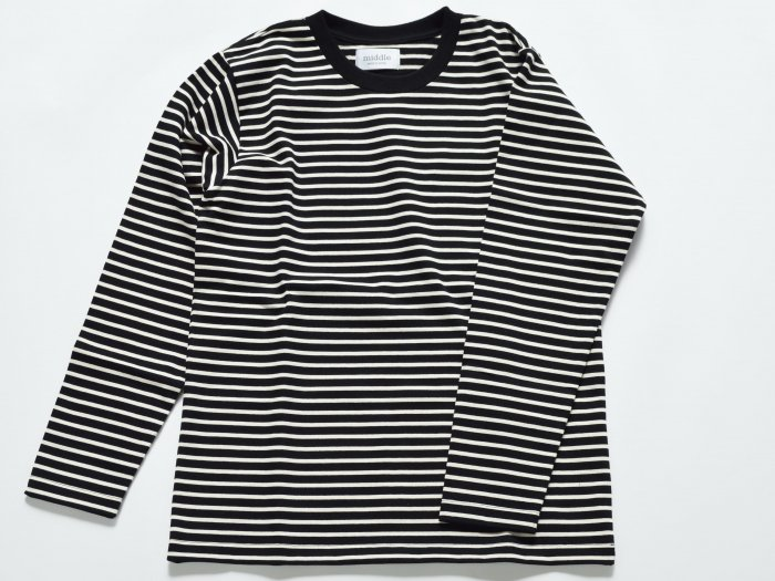 border long sleeve t-shirt /  BLACK