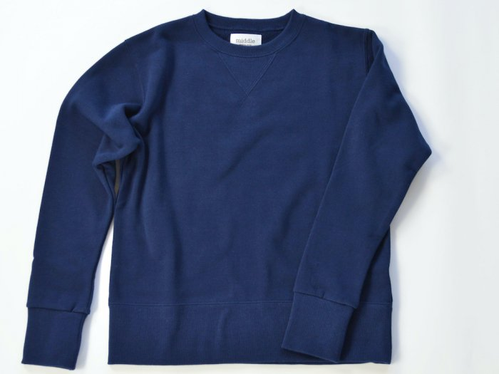 sweat crew neck / NAVY