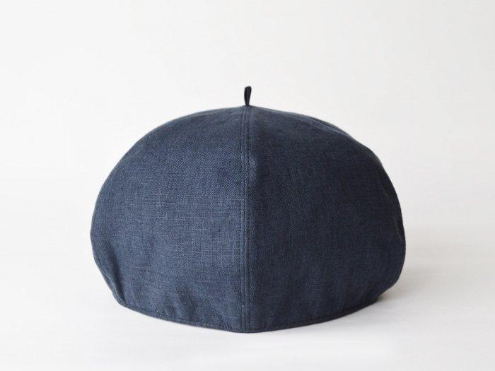 linen beret /DARK NAVY