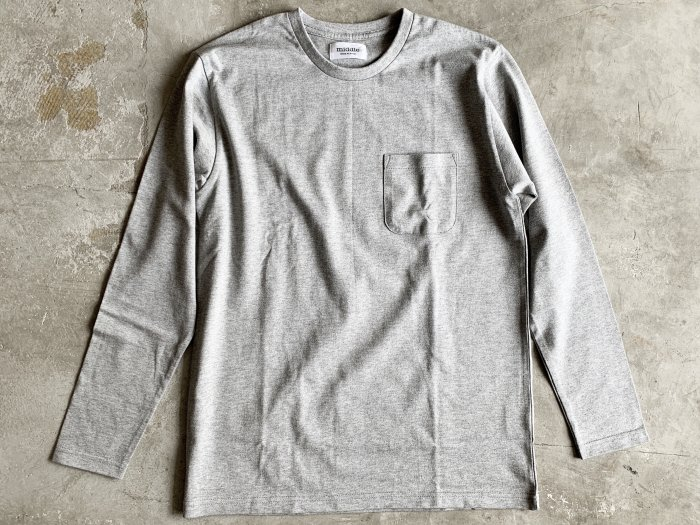 pocket long sleeve t-shirt /  GREY
