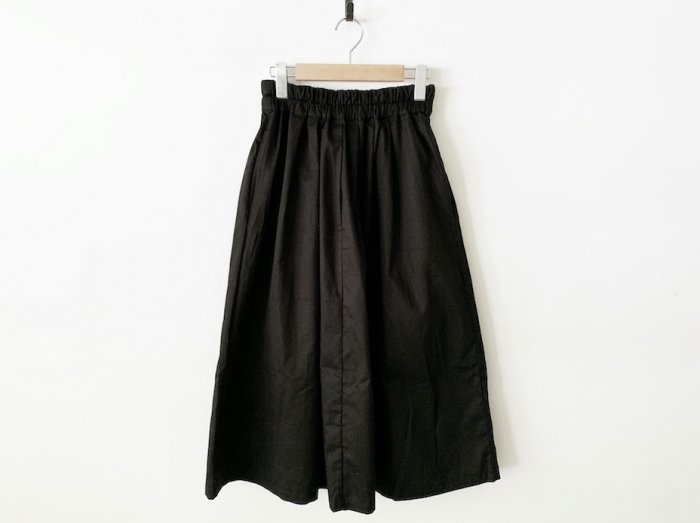 chino long skirt / BLACK