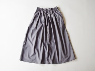 chino long skirt / GREY