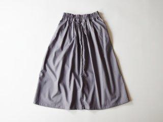 chino long skirt / GREY