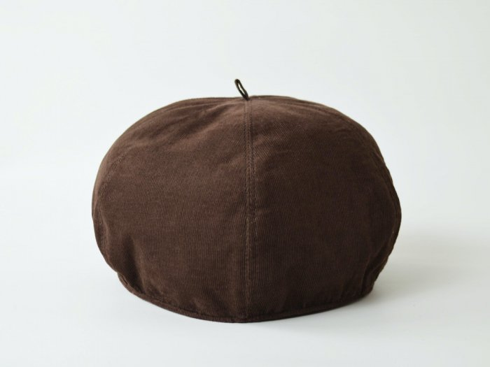corduroy beret / BROWN