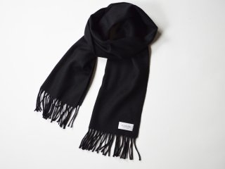 wool cashmere scarf  /  BLACK
