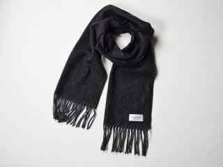 wool cashmere scarf  /  GREY